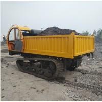 工程爬陡坡履带车 大吨位自卸翻斗运输车 钢制履带