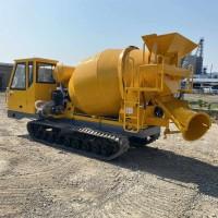 小型混凝土运输车 2立方履带式罐车 履带拉混凝土搅拌罐运输车