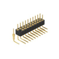 2.0圆P排针 双排90度连接器2*10